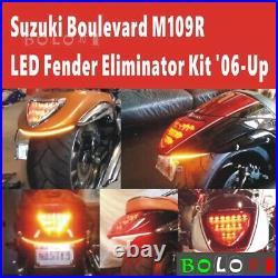 Fender Eliminator LED Turn Signal Tail Light for Suzuki Boulevard M109R 2006-UP