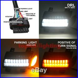 Fender Light Double Track Running Water DRL LED Turn Signal For Jeep Wrangler JL