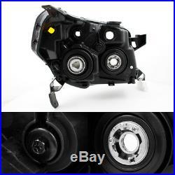 Fit 06-08 Honda Pilot Black Bezel Projector Headlights Headlamps Replacement