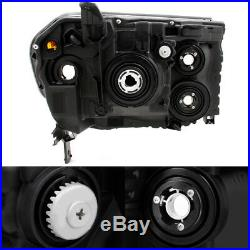 Fits 09-11 Pilot SUV Black Bezel Headlights Front Lamps Replacement Left + Right
