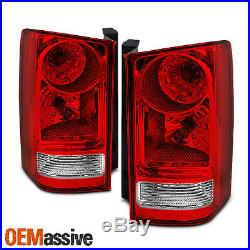 Fits 2009-13 Honda Pilot Red Clear Tail Light Replacement Left + Right Pair Set