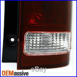 Fits 2009-2013 Honda Pilot Dark Red Taillights Replacement Left + Right Pair Set