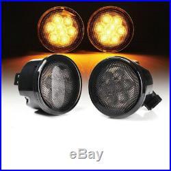 For 07-17 JEEP WRANGLER 7 LED Headlight 4 Fog Tail Maker Lights Combo Kit DOT