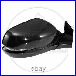 For 16-17 Honda Pilot Power Heated Signal Memory Black RH Side Mirror