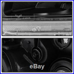 For 2006 2007 2008 Honda Pilot Headlights Headlamps Black Aftermarket Left+Right