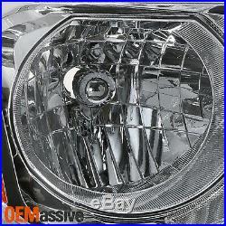 For 2012 2013 2014 2015 Honda Pilot Halogen Chrome Headlights Pair Left+Right