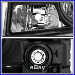 For 2012 2013 2014 2015 Honda Pilot SUV Black Headlights Headlamps Left+Right