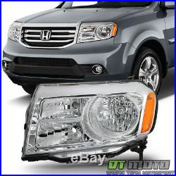 For 2012-2015 Honda Pilot Halogen Replacement Headlights HeadLamp LH Driver Side