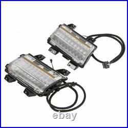 For 2018-20 Jeep Wrangler JL Clear LED Fender Daytime Running Turn Signal Lights