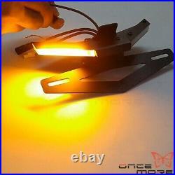 For 2020+ DUCATI V4 S V2 Fender Eliminator LED Turn Signal License Plate Bracket