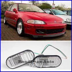 For 92-95 Honda Civic Si EG6 JDM Side Marker Turn Signal Fender Light Lamp CLEAR