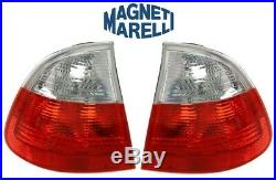 For BMW E46 Pair Set of 2 Outer Taillights with White Turn Signal for Fender OEM