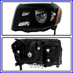 For Black 2009 2010 2011 Honda Pilot Headlights Headlamps Left+Right Aftermarket