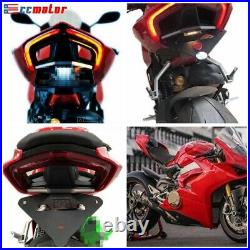 For Ducati Panigale V4 S R LED Tail Tidy Fender Eliminator Turn Signals 2018-19