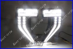 For Ford F-150 2021-2022 Side Vent Fender LED Driving Lights/ Turn Signal Lights