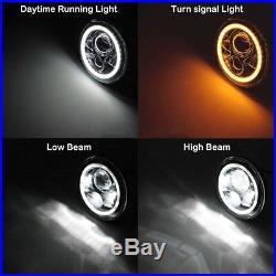 For Jeep JK 7 LED Headlights+Fog Lights+Turn Signal+Fender Lamp+Tail light