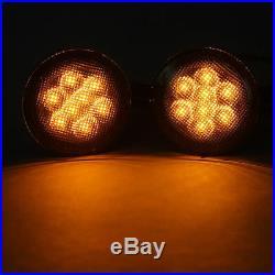For Jeep Wrangler JK 7 LED Halo Headlights 4 Fog+Turn Signal+Fender Combo Kits