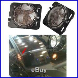 For Jeep Wrangler JK 7 LED Headlight DRL Turn Signal Fog + Fender Light Lamp