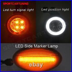 For MINI Cooper R50 R52 R53 LED Smoke Side Marker Light & LED Corner Signal Lamp