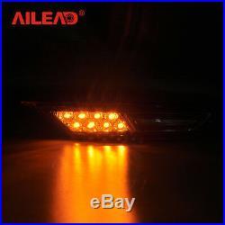 For Nissan Gt-r R53 07-18 Led Side Fender Marker Light Drl Running Lamp Front 2p