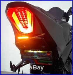 GSX-R1000 2017-up Fender Eliminator with LED Turn Signal Light Bar Smoked Lens