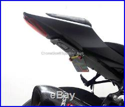 GSX-R1000 2017-up Fender Eliminator with Red LED Turn Signal Light Bar Smoked