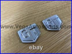 GT' Chrome Fender Emblems to suit Nissan Skyline R32 GTS-t 63896-01U00 Discon