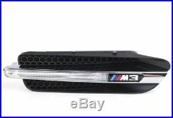 Genuine BMW Front Wing Trim Grill Fender Turn Signal with Emblem E90 M3 RIGHT