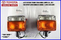 Genuine Toyota Land Cruiser Fj40 Fj45 Bj40 Front Turn Signal Fender Lamp Light