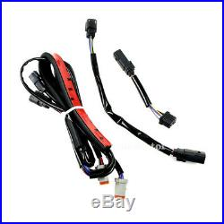 Gloss Rear Fender Extension Turn Signal Brake Running LED Fit For Harley Touring