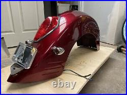 HONDA'06 VTX1300RA REAR BLOODSTONE RED FENDER With TAIL LAMP AND TURN SIGNALS