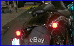 Harley-Davidson Breakout Under-the-Fender LED Taillight and Turn Signals Clear