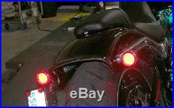Harley-Davidson Breakout Under-the-Fender LED Taillight and Turn Signals Red