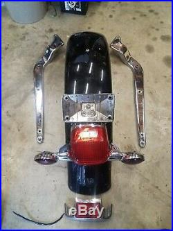Harley heritage rear fender struts light bar brake light turn signals Springer