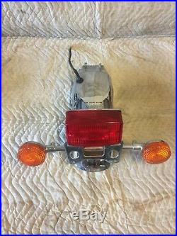Honda 1982 CB750 Rear Fender taillight tail light Turn Signals And Plate Mount