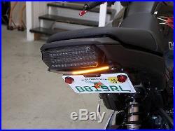 Honda Grom MSX125 SS Fender Eliminator Kit with Amber LED Turn Signal Light Bar C