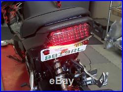 Honda Grom MSX125 SS Fender Eliminator Kit with Amber LED Turn Signal Light Bar S