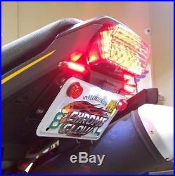 Honda Grom MSX125 SS Fender Eliminator Kit with Amber LED Turn Signals Smoke