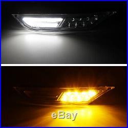 Inner Chrome Clear Lens White/Amber LED Side Marker Lights For 07-18 Nissan GTR