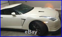 Inner Dark Smoked Lens White/Amber LED Side Marker Lights For 07-18 Nissan GTR