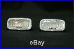 JDM Front LED Clear Turn Signal Blinker Fender Lights Nissan GTR R34 R33 NISMO