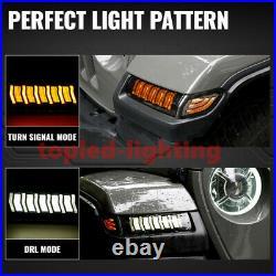 JL LED DRL Fender Lights Turn Signal &Marker Light for Rubicon//Gladiator/Sahara