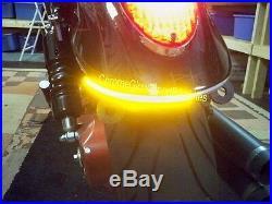 Kawasaki Mean Streak Red LED Fender Eliminator Turn Signal Kit Smoked Lens