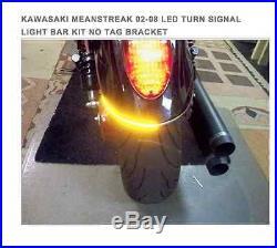Kawasaki Meanstreak 02-08 Led Turn Signal Light Bar Kit With Tag Bracket