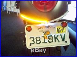 Kawasaki Vulcan 900 Custom LED Fender Turn Signal Light Bar Kit Smoked VN900C