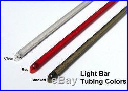 Kawasaki Vulcan 900 Custom Red LED Fender Turn Signal Light Bar Clear VN900C