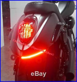 Kawasaki Vulcan 900 Custom Red LED Fender Turn Signal Light Bar Red VN900C