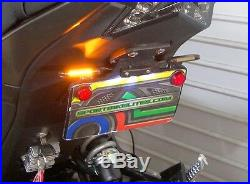 Kawasaki Z125 Pro SS Fender Eliminator Kit with Amber LED Turn Signals Clear
