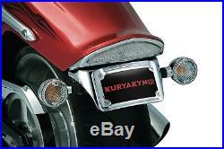 Kuryakyn 9258 Sub-Fender License Plate/Turn Signal Mount 2008-17 Yamaha XV1900C