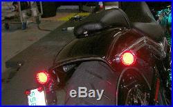 LED Fender Brake Light/Turn Signal Kit Harley Davidson Breakout Smoked Lens